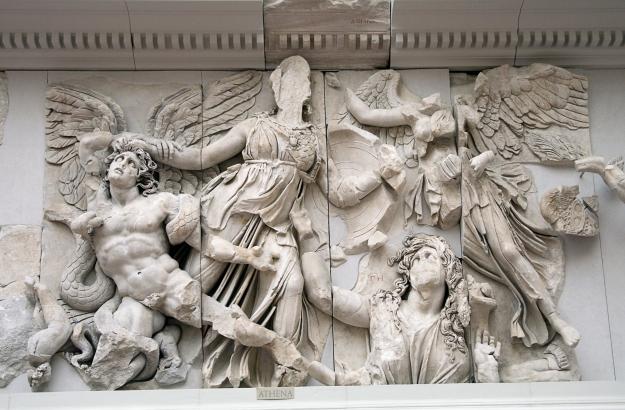 Ästhetik des Widerstands nach Peter Weiss. Detail des Berliner Pergamonfrieses - Foto: Ealdgyth/Wikimedia
